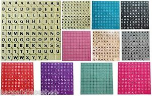 TILES BLACK/WHITE LETTERS FULL SET 100 PIECES -WOODEN/PLASTI<wbr/>C COLOURED
