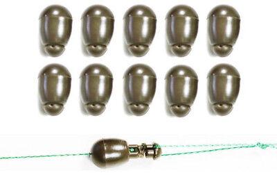 Green 10 Set Carp Fishing Method Feeder Quick Change Beads Terminal Tackle