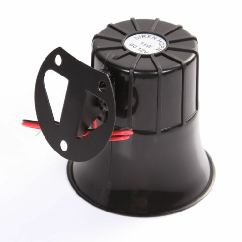 15W Loudly Sound Siren Horn Outdoor with Bracket for Home Security Alarm Systems