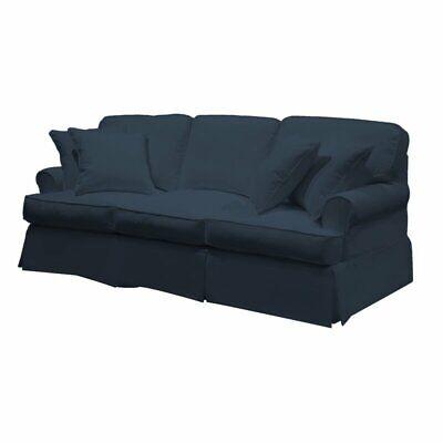 Telluride T Cushion Sofa Slipcover Navy