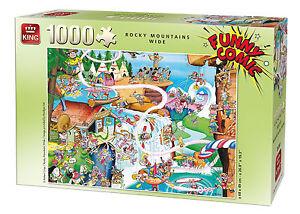 1000-Pieza-Gracioso-Comic-Dibujos-Animados-alcaparras-Rompecabezas-Montanas-Rocosas-Ancho-05189