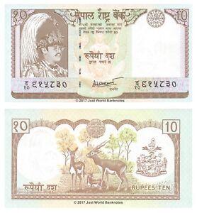 Nepal-10-RUPEES-1985-87-UNC-banconote-P-31b