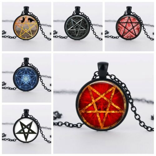 UK PENTAGRAM PENDANT NECKLACE Jewellery Gift Idea Witchcraft Witch Star Occult