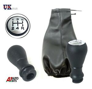 5-Speed-Car-Shift-Knob-Gear-Stick-amp-Gaiter-Cover-Shifter-For-Peugeot-206-306-406