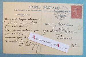 CPA-Leon-LEBEGUE-Lithographe-Affichiste-illustrateur-Orleans-a-Joseph-UZANNE-LAS