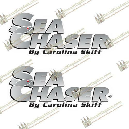 Sea Chaser by Carolina Skiff Boat Decals - Set of Marine 2 Marine of Grade cd32d4