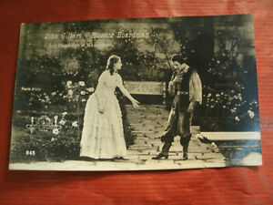 CARTOLINA-John-Gilbert-Eleanor-Boardman-Att-CINEMA-FILM-D-039-EPOCA-1926-Bianco-Nero