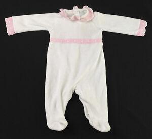0f2386ed2eb1 Baby Girl - LARANJINHA - White - Velour Babygrow - Age 1 Month ...