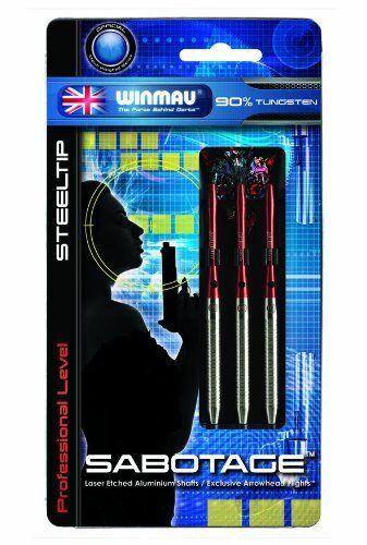 Winmau Tip Sabotage 90% Tungsten Alloy Professional Level Steel Tip Winmau Darts 24 Gram 5d30c8