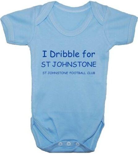 St Johnstone Baby Grow//Bodysuit//Romper//Vest//T-Shirt 0-24m Football Acce Boy Girl