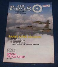AIR FORCES INTERNATIONAL MAGAZINE JANUARY 1989 - SAAB J-35 DRAKEN