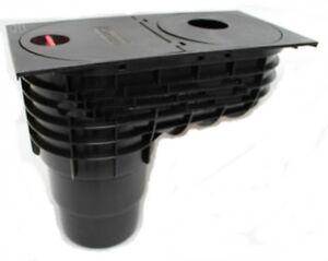 regensinkkasten regenrohrablauf regenwasserablauf dachrinnenablauf q3 schwarz 5900308312971 ebay. Black Bedroom Furniture Sets. Home Design Ideas