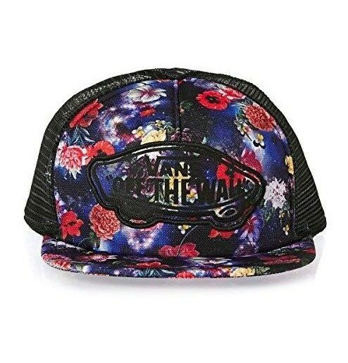 Vans Off The Wall Beach Girl Skateboard Galaxy Floral Trucker Hat NWT One  Size 11b03b46e3d