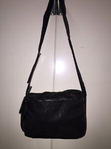 prada red handbag - Pre Owned Authentic Prada Nylon and Leather Crossbody Messenger ...