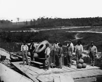8x10 Civil War Photo: dictator 13-inch Mortar Cannon On Railroad Flat Car