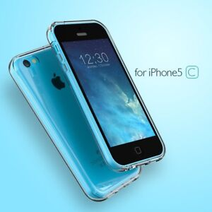 Case-Army-Clear-Case-Puffy-Hard-Back-Soft-Side-Cover-for-Apple-iPhone-5C-5-C