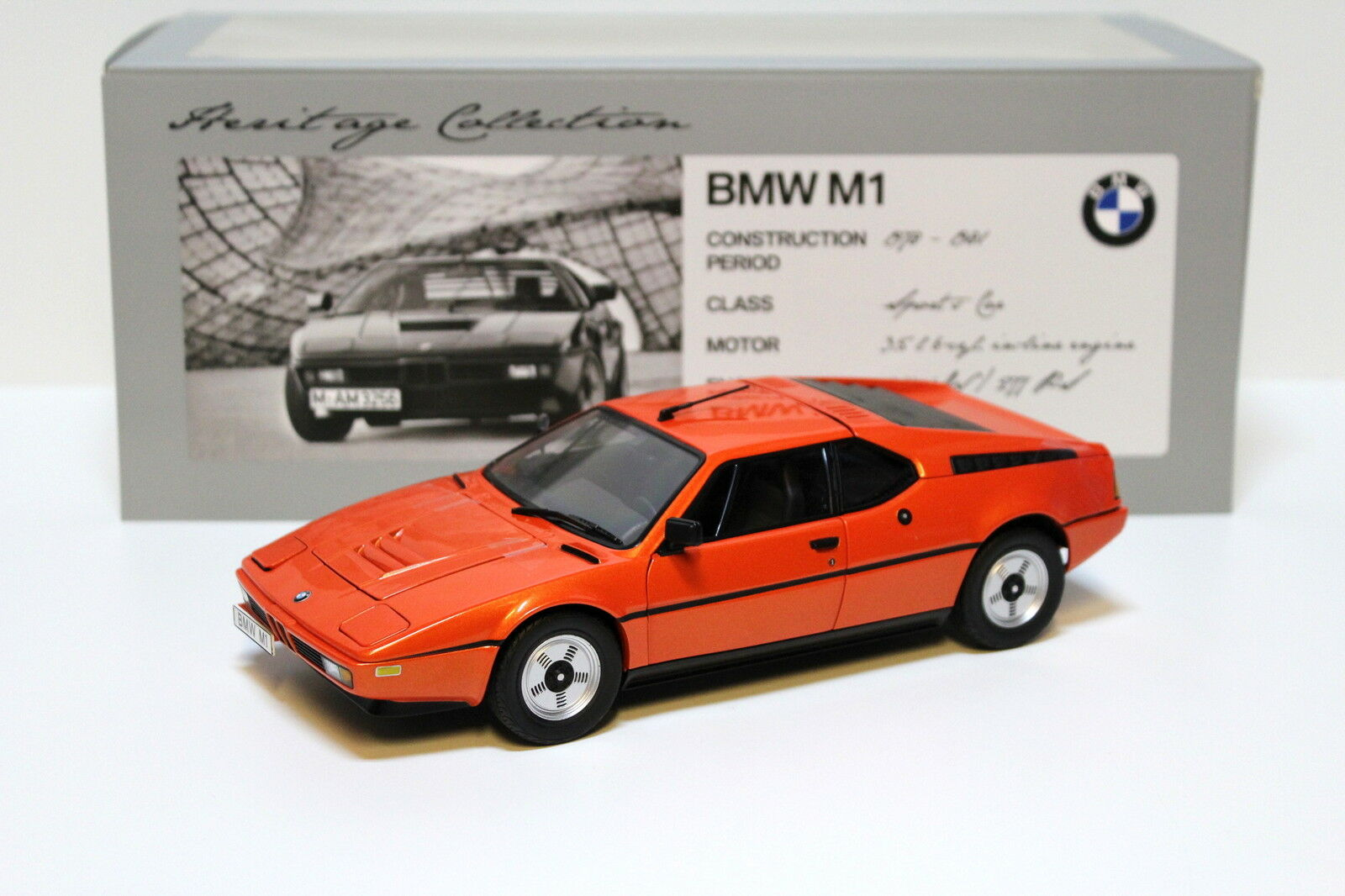 1 18 Minichamps BMW m1 Coupe arancia HERITAGE COLLECTION NEW in Premium-MODELCAR