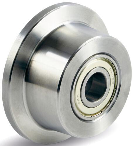 Rad mit Spurkranz Rad 50mm Stahl Kugellager Tragfähigkeit:500KG