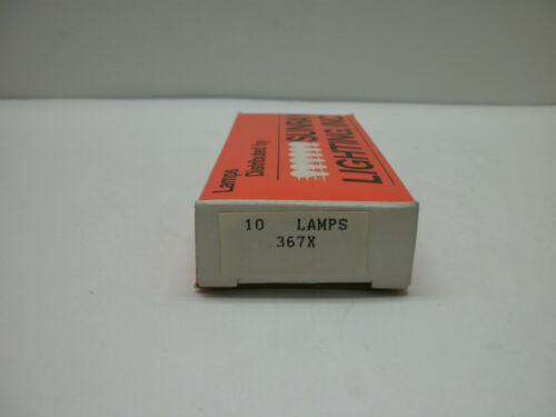 LOT OF 10 SUNRAY 367 MINIATURE LAMP BULBS SX6S BASE 10.0V 0.04A 0.4W T1-3//4 NIB