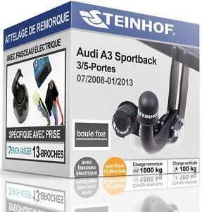ATTELAGE-rigide-AUDI-A3-SPORTBACK-3-5-Portes-2008-2013-FAISCEAU-SPEC-13-broches