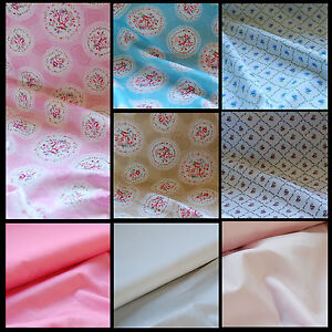 NEW-Extra-Wide-100-Cotton-Fabric-SHABBY-CHIC-FLORAL-roses-by-the-METRE