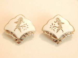 Vintage-Sterling-Silver-amp-Enamel-Siam-Earrings-Deceased-Estate