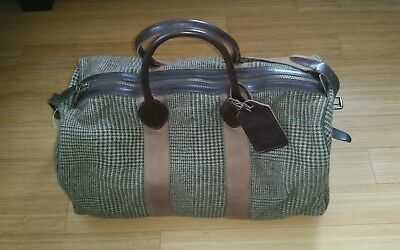 25e45b70111 New POLO Ralph Lauren Wool Leather Wool Weekender Bag Carry All Tote Sold  Out