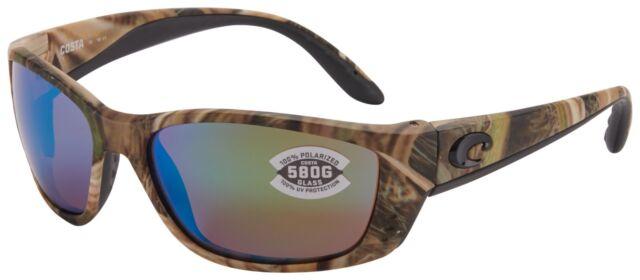 0b8a9cb80b Costa Del Mar Fisch Sunglasses FS-65-OGMGLP 580G Camo Green Mirror Polarized