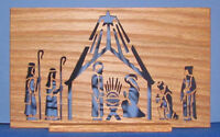 Flat Screen Nativity Scene - Hand Cut Wooden Plaque