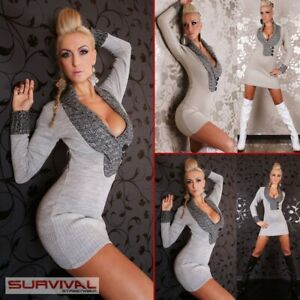 NEW-WOMENS-JUMPER-DRESS-SWEATER-SEXY-SIZE-8-10-MINI-CLUB-PARTY-CASUAL-TOP