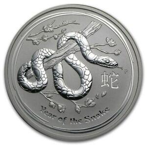 2013  Australia Lunar Snake 1 oz Silver Coin BU