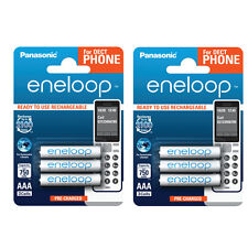 6 x Panasonic eneloop AAA 800mAh Rechargeable Ready to use Batteries DECT PHONE