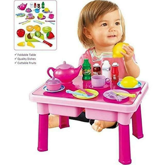 Play Food Funerica Pretend Table Toy Dishes Cuttable Fruits Tea Set More Makes For Sale Online Ebay