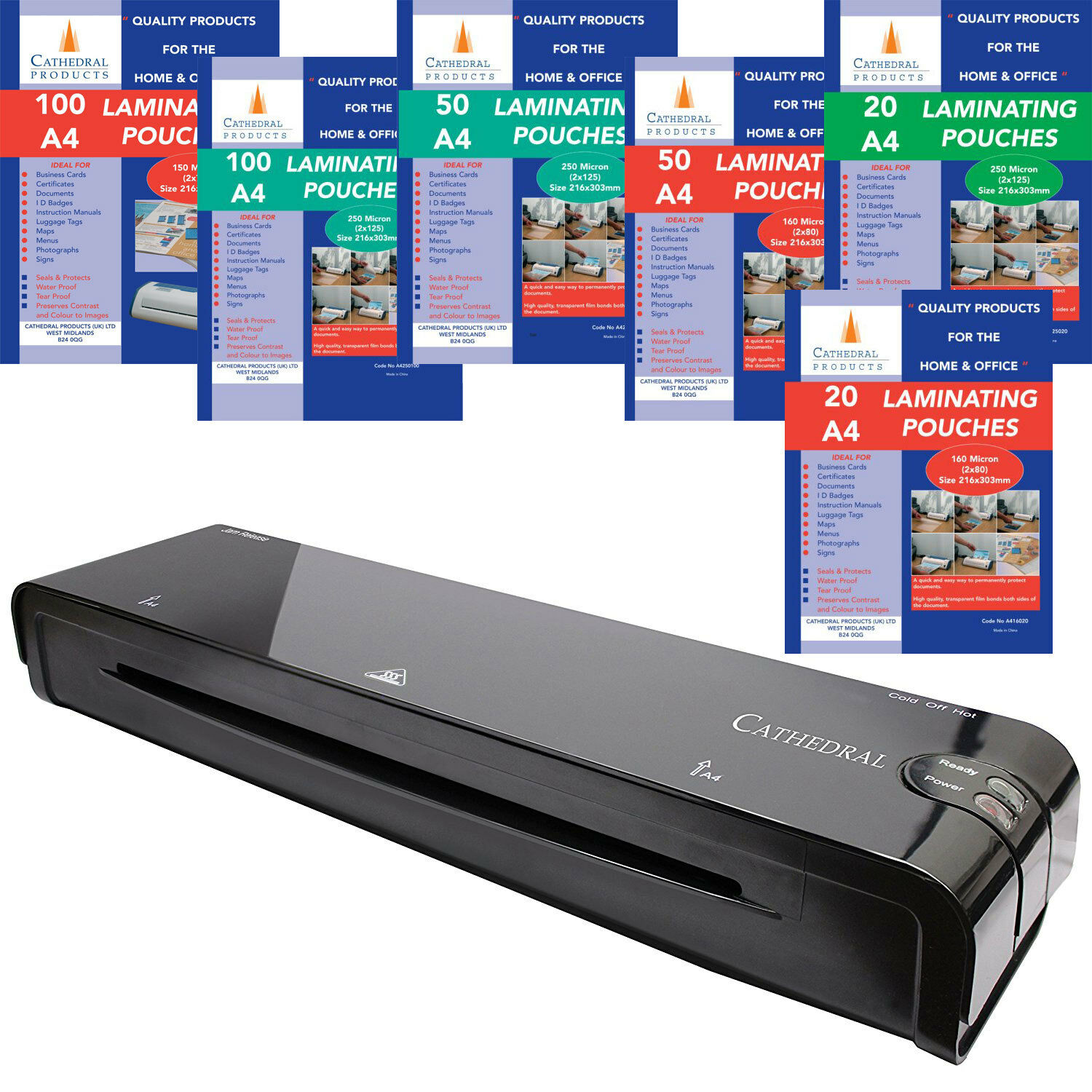 Cathedral Home & Office A3 A4 A5 Laminator / Laminating Machine ...