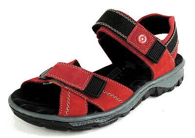 RIEKER Damen Trekking Sandale FUSSBETT rotschwarz 2x KLETT statt 49,95€ | eBay