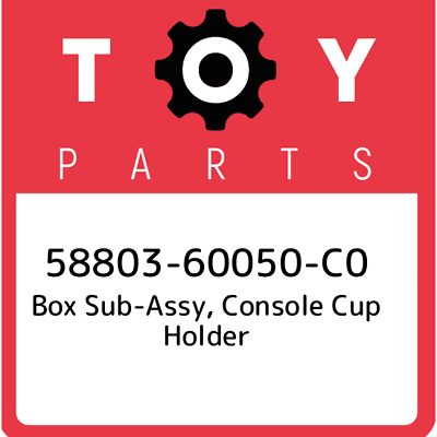 Toyota 58837-52040-C0 Cup Holder Box