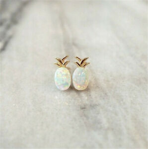 925-Yellow-Gold-Plated-Pineapple-Fire-Opal-Ear-Stud-Earrings-Women-Jewelry-Gift