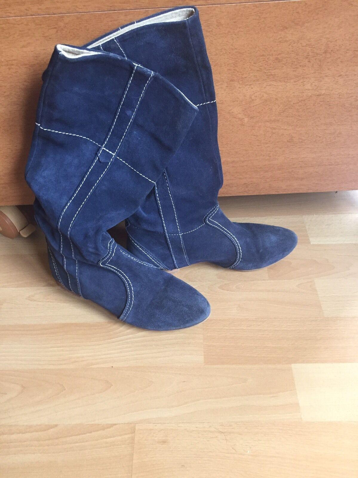 Damen Stiefel Wildleder Italien Gr.36 Gr.36 Gr.36 a070a9