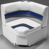 28 Corner Pontoon Seat In Gray, Blue And Charcoal