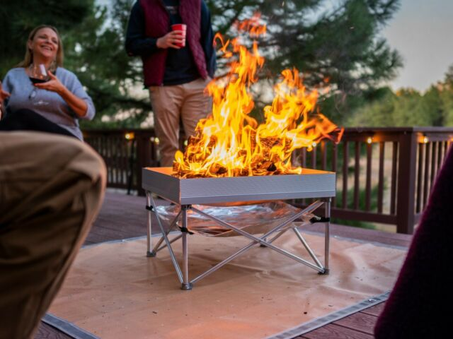 Fireside Industries Pop Up Fire Pit And Heat Shield Combo For Sale Online Ebay