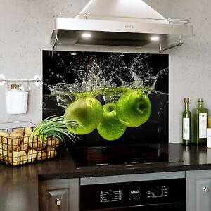 Splashback Glass Kitchen Tile Cooker Panel ANY SIZE Water Splash Photo 9244
