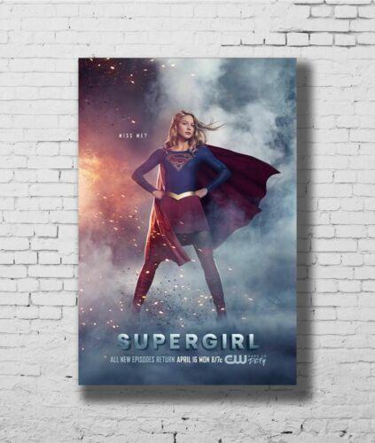 W218 24x36 14x21 Poster Supergirl TV Series Season 3 Melissa Benoist Art Hot