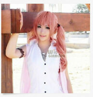 New Final Fantasy XIII Serah Farron Long Pink Cosplay Hair Wig+gift