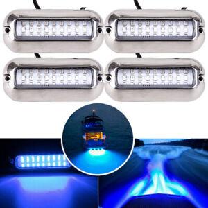 4PCS 50W 27 LED Bootsbeleuchtung Unterwasser Beleuchtung Hecklampe Wasserdicht