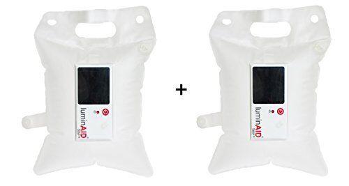 LuminAID Packlite 16 Inflable Energía Solar Linterna De Luz A Prueba De Agua (2 Pack)