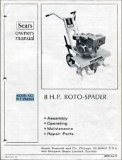 Digital Copy Of Sears Owner S Manual 8 H P Roto Spader Model No