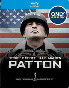 Patton-Blu-ray-DVD-MetalPak-Only-Best-Buy-Sealed-New-SteelBook-Limited-Edition