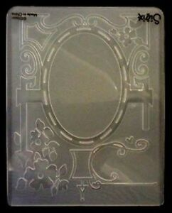 Sizzix Large Embossing Folder FRAME ORNATE SCROLL fits Cuttlebug 4.5x5.75in