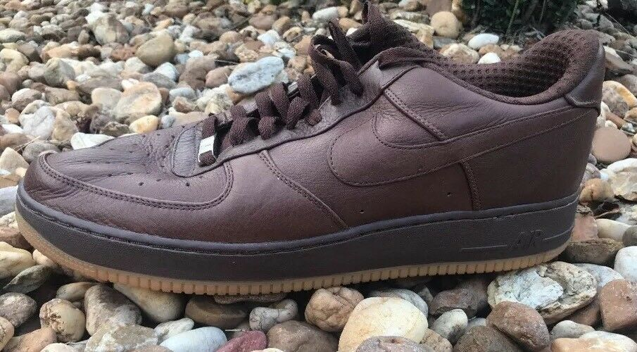 RARE 1 Men's Nike Air Force 1 RARE Brown Leather  Size 14 7df494