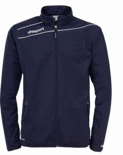 Uhlsport Mens Stream 3.0 Football Sports Zip Jacket Tracksuit Top Navy White